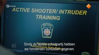 School shootings als business model; kogelwerende rugtassen en baseballcaps