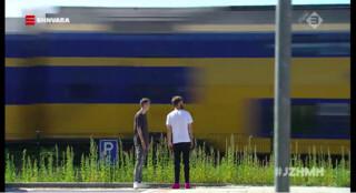 Voor de trein springen
