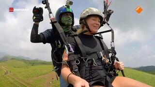 Geraldine gaat paragliden bij de West-Ghats