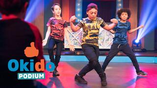 Kinderen voor Kinderen Pakt Uit Okido podium aflevering 1 - voorrondes