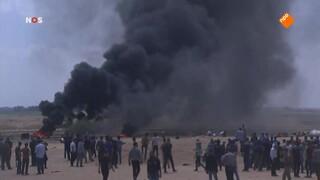 Massaal Palestijns protest bij grens Gaza-Israël: '16 doden en 500 gewonden'