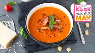Kook Mee Met Max - Chinese Tomatensoep Met Omeletreepjes