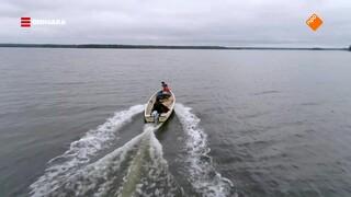 Maurice overnacht aan de Botnische Golf in Zweden