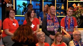 Aan onze supportersbar zitten Servische en Zwitserse fans