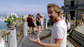 Chris beklimt de actieve Stromboli-vulkaan in Italië