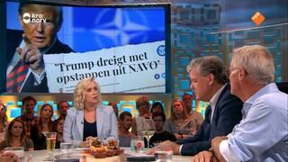 Charles Groenhuijsen gaat in op de ferme uitspraken van Trump tijdens de NAVO-top