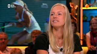 Kiki Bertens en haar coach Raemon Sluiter vertellen over hun succes op Wimbledon
