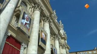 Rechtstreekse uitzending van de heiligverklaring van o.a. paus Paulus VI en aartsbisschop Oscar Romero door paus Franciscus, vanuit de St. Pietersbasiliek in Rome.