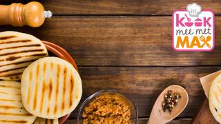 Kook mee met MAX Venezolaanse arepa's met Hollandse topping