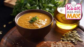 Kook mee met MAX Pompoen-linzensoep