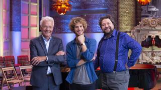Presentatoren Paul, Floris en Mike