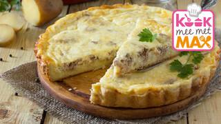 Kook mee met MAX Quiche met asperges en gerookte kip