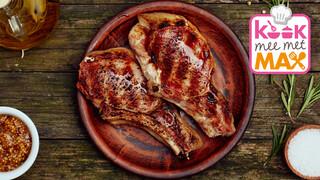Kook mee met MAX Aardappel-bietensalade met schouderkarbonade
