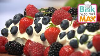 Bak mee met MAX Biscuitrol met citroencrème en rood fruit