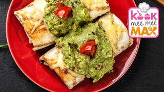 Kook Mee Met Max - Chimichanga Met Tempehgehakt En Guacamole