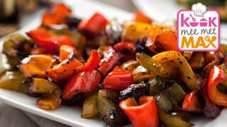 Kook Mee Met Max - Wentelteefjes Met Pompoen-geitenkaasspread En Geroosterde Paprika