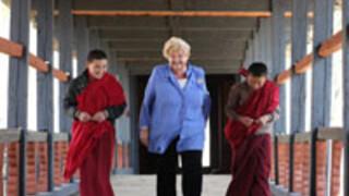 Erica op Reis Bhutan