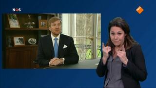 Nos Journaal Met Gebarentolk - Nos Journaal: Toespraak Koning Willem Alexander Met Gebarentolk
