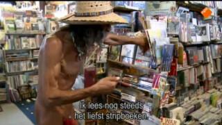 Naked Paul, boekverkoper uit Quartzsite