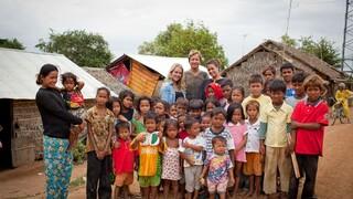 Kimberley en Mandy in Cambodja