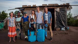 Eva en Simon in Zuid-Afrika