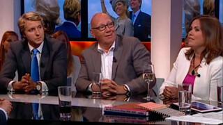 Knevel & Van den Brink Wouter Bos, Astrid Kersseboom, Hans van Breukelen, Kees Jansma en Ruben van Zwieten