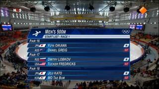 Schaatsen: 500 m mannen.