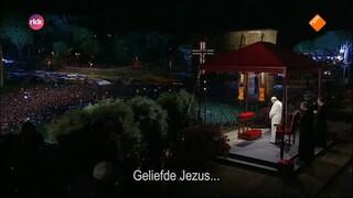 Kruisweg in Rome met de Paus