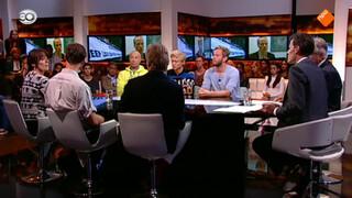 Saskia Belleman, Tom Coronel, Nicolaas Veul, Tim den Besten, Jort Kelder en Kelly Meulenkamp.