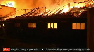 Oude boerderij Didam in de as bij brand