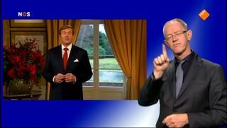 Kersttoespraak koning Willem-Alexander met gebarentolk