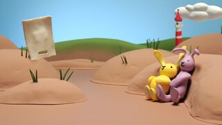 Het Zandkasteel Konijntje en de tas