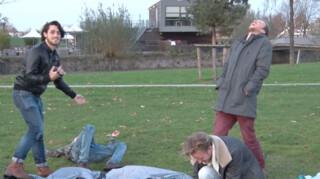 Streetlab Tent opzetten met een slok op