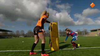 Rugby met Elke van Meer