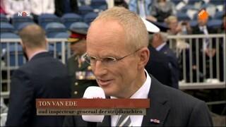 NOS 70 jaar bevrijding: Veteranendefilé Wageningen