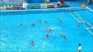 NOS Studio Sport WK Waterpolo halve finale Nederland - Italië
