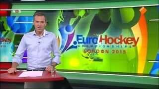 NOS Studio Sport EK Hockey 1/2 finale vrouwen voorbeschouwing en 1ste helft Nederland - Duitsland