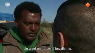 Gevlucht uit Eritrea, vast in Calais