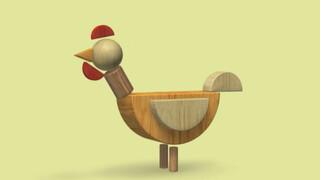 Een kip van blokken