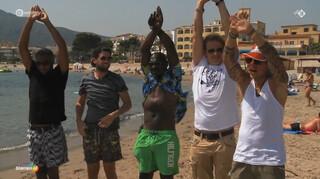 Zeemeerminnen cursus op het strand