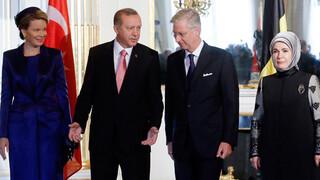 Blauw Bloed Gespannen staatsbezoek van Turkije aan het Belgisch koningspaar