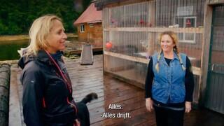 Aankomst Floortje bij oesterkwekerij in Zuidoost-Alaska