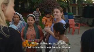Aankomst Floortje bij Maggie in Nepal