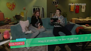 Britt en Niek on topic - Bijbaan