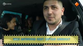 Een filmquiz in de taxi