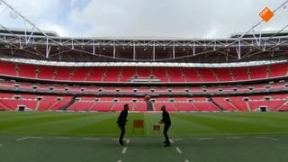 Een balletje trappen in de voetbaltempel Wembley