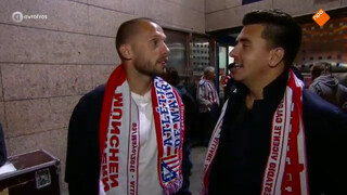 Sfeer bij Atlético Madrid tegen Bayern München