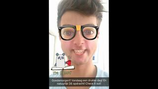 Zapp Snapchatmaand Buddy Vedder