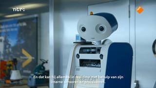 Een robot op Schiphol brengt je naar je gate