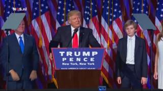 De volledige speech van Trump na zijn overwinning (niet ondertiteld)